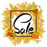 Jesieni sprzedaż w ramie Zdjęcie Stock