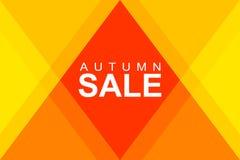 Jesieni sprzedaż w rhombus Fotografia Stock