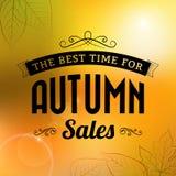 Jesieni sprzedaży rocznika typografii plakat Fotografia Stock