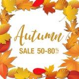 Jesieni sprzedaży sztandar Zdjęcie Royalty Free