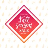Jesieni sprzedaży sztandaru szablon Zdjęcie Royalty Free