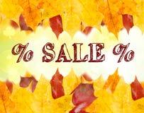 Jesieni sprzedaży tekst Zdjęcia Royalty Free