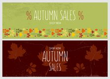 Jesieni sprzedaży ulotki szablon Zdjęcie Stock