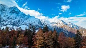 Jesieni sunrinse w dolinie Zdjęcia Stock