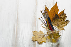 Jesieni sztuka Obrazy Royalty Free