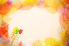 Jesieni sztuki tło Zdjęcie Stock