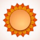 Jesieni tła układ dekoruje z liścia sztandarem również zwrócić corel ilustracji wektora EPS10 ilustracji