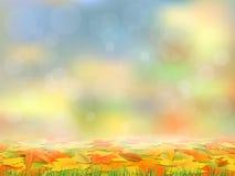 Jesieni tło z spadać liśćmi Zdjęcie Stock