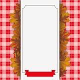 Jesieni ulistnienie Sprawdzał koc sztandaru Papierowego faborek Zdjęcie Stock