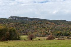 Jesieni ulistnienie w Shawangunk górze w Nowy Jork fotografia royalty free