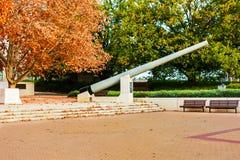 Jesieni ulistnienie, Wojenny pomnik, Canberra Obraz Royalty Free