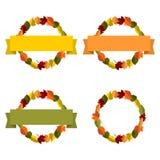 Jesieni ulistnienie z sztandarem ilustracja wektor
