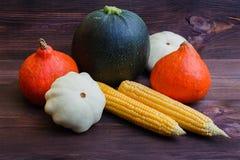 Jesieni warzywa na drewnianym stole Żywności organicznej tło obraz stock
