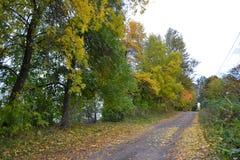 Jesieni wiejska droga Obrazy Royalty Free