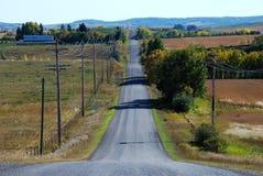 jesieni wiejska droga Zdjęcie Royalty Free