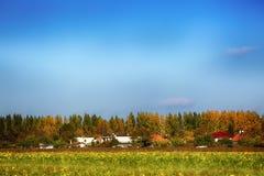 Jesieni wioski krajobraz Obraz Royalty Free