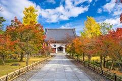 Jesieni świątynia w Kyoto Obrazy Stock