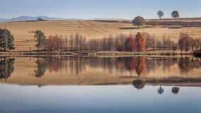 Jesieni Wodni odbicia Obrazy Stock