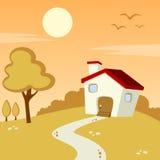 Jesieni wsi krajobraz Zdjęcie Royalty Free
