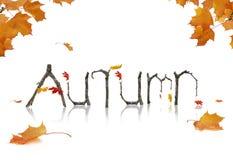 Jesieni zawiadomienie fotografia stock