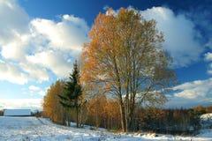 jesienią zimy spotkania Obraz Stock