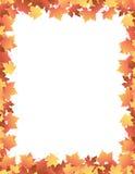 jesienią, zostaw klona do granicy Fotografia Stock