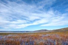 Jesienna jeziorna sceneria Fotografia Stock