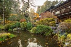 Jesienna sceneria Nikko park narodowy Zdjęcie Stock