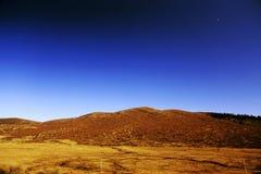 Jesienna sceneria Qinghai, Tybet plateau - Obraz Royalty Free