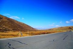 Jesienna sceneria Qinghai, Tybet plateau - Zdjęcie Royalty Free