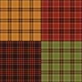 Jesienne szkockie kraty Zdjęcie Royalty Free
