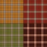 Jesienne szkockie kraty Obraz Stock