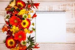 Jesienni kwiaty i jagody Zdjęcia Royalty Free
