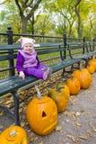 jesienny środkowy dziewczyny trochę park Zdjęcie Royalty Free