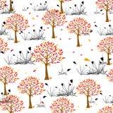 jesienny deseniowy bezszwowy Obrazy Royalty Free