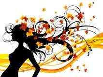 jesienny fryzury tła white Zdjęcia Stock