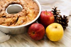 Jesienny jabłczany kulebiak Fotografia Royalty Free