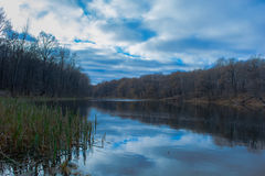 jesienny jeziora Zdjęcie Royalty Free