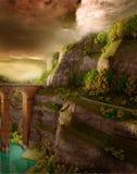 jesienny kolorowy krajobraz ilustracji
