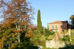 Jesienny krajobraz dom przy Lugano Obrazy Royalty Free