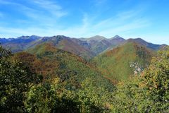 Jesienny krajobraz w Pyrenees Obraz Royalty Free