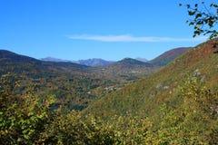 Jesienny krajobraz w Pyrenees Obraz Stock