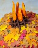 Jesienny Ślubny tort Fotografia Royalty Free