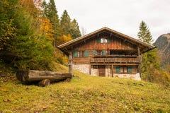 jesienny park piękna domowa góra zdjęcia stock