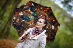 jesienny portret Fotografia Royalty Free