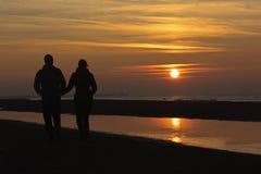 jesienny romantyczny ustalony słońce Obrazy Stock