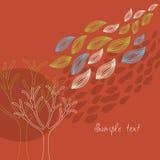 jesienny sztandar ilustracji