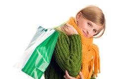 jesienny torby dziewczyny mienie Obraz Royalty Free