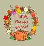 Jesienny wianek dla dziękczynienia royalty ilustracja