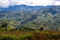 Jesienny widok dolina Z wierzchu San Agustin Archeological parka, Huilla, Kolumbia fotografia stock